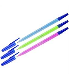 """Ручка шариковая Стамм """"049"""" синяя, 1,0мм, флуоресцентный корпус ассорти"""