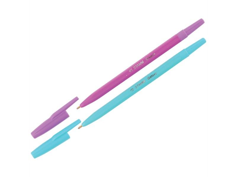 """Ручка шариковая Стамм """"Галактика"""" синяя, 1мм"""