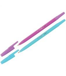 """Ручка шариковая Стамм """"Галактика"""" синяя, 1мм, ассорти"""