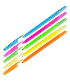 "Ручка шариковая Стамм ""Оптима"" синяя, 0,7мм, корпус neon, ассорти"