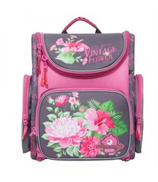 S-12 Flowers Рюкзак школьный (/1 розовый - серый)