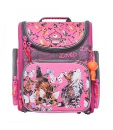 S-15 Cats Рюкзак школьный (/1 розовый - серый)
