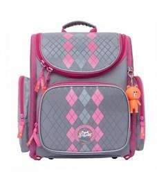 S-22 Classic Рюкзак школьный (/2 серый - розовый)