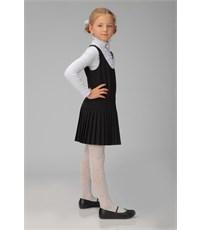 Фото 2. Сарафан школьный Инфанта с плиссированной юбкой, черный