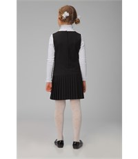 Фото 3. Сарафан школьный Инфанта с плиссированной юбкой, черный