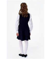Фото 3. Сарафан школьный Инфанта с заниженной талией, синий