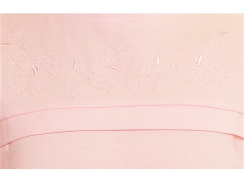Школьная кофточка Снег для девочки с коротким рукавом 05-14 розовый