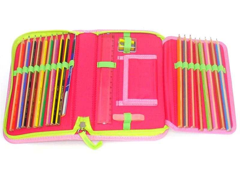 Школьный ранец DerDieDas Ergoflex Фламинго с наполнением