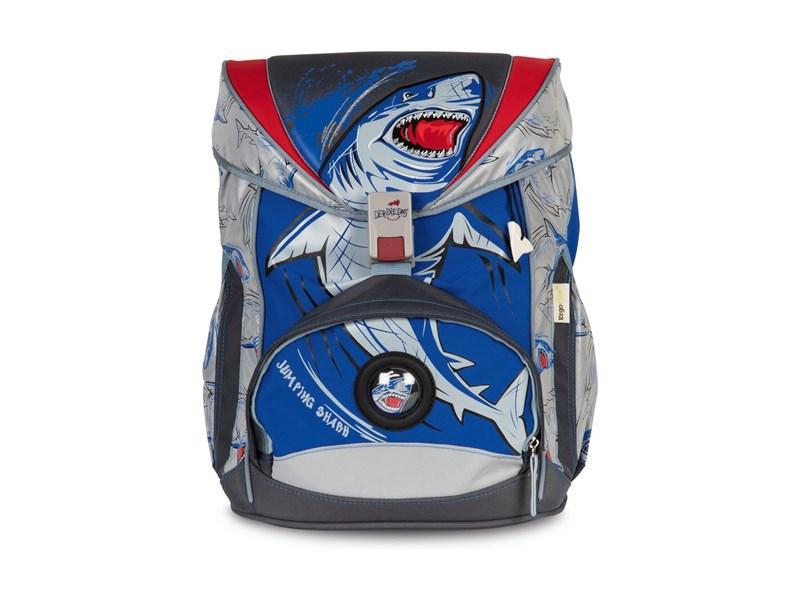 Школьный ранец DerDieDas Ergoflex Superflash Акула с наполнением
