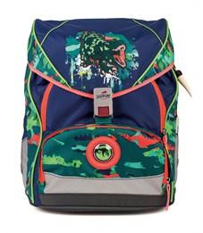 Школьный ранец DerDieDas ErgoFlex XL Динозавр с наполнением