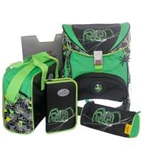 Школьный ранец DerDieDas Green Spider с наполнением