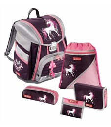 Школьный ранец Hama Step By Step Touch Unicorn розовый с наполнением H-129090