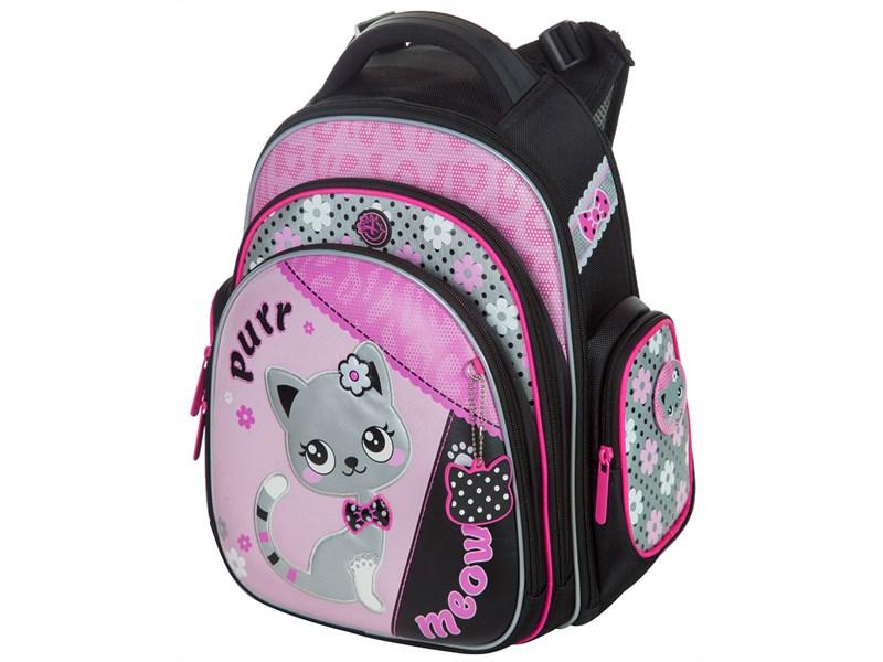 Школьный ранец Hummingbird Kids Кошечка + мешок