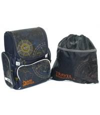 Школьный ранец Mike Mar Навигация темно-синий + мешок