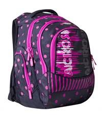 Школьный рюкзак Across G15-11 черный-розовый