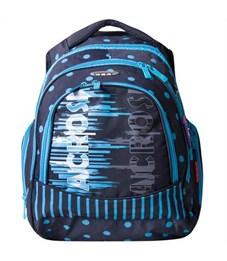 Школьный рюкзак Across G15-11 черный-голубой