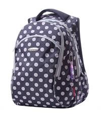 Школьный рюкзак Across G15-12 серый горох