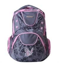 Школьный рюкзак Across G15-4 серый-розовый