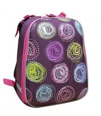 Школьный рюкзак Mike Mar Круги бордо