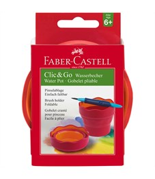 "Стакан для воды Faber-Castell ""Clic&Go"", красный"