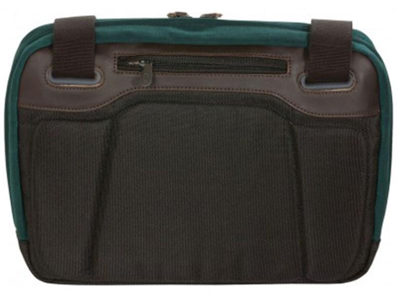 Сумка для отдыха через плечо Quershoulder III Q22 зеленая кожа+тек