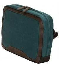 Фото 3. Сумка для отдыха через плечо Quershoulder III Q22 зеленая кожа+тек