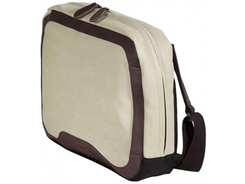 Сумка для отдыха через плечо Quershoulder III Q22 серая кожа+текс.