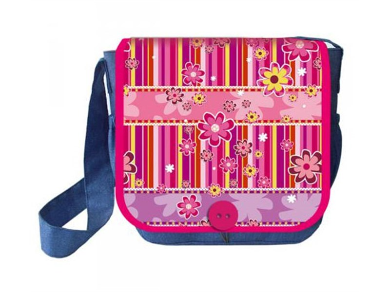 Сумка для внешкольных занятий с клапаном Оникс Цветочки розовые С-2