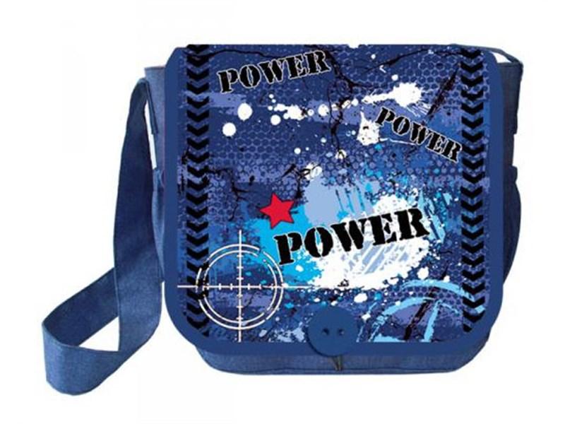 Сумка для внешкольных занятий с клапаном Оникс Power синий С-2