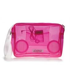 Сумка Fydelity G-Force Shoulder Bag розовая прозрачная