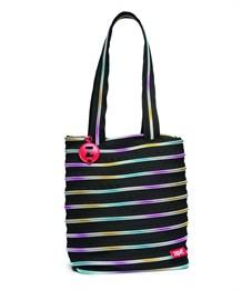 Сумка молодежная Zipit Premium Tote Beach Bag чёрный-мульти
