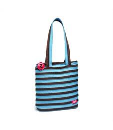 Сумка молодежная Zipit Premium Tote Beach Bag голубой-коричневый