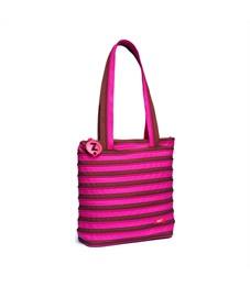 Сумка молодежная Zipit Premium Tote Beach Bag розовый-коричневый