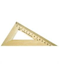 Треугольник Красная звезда 30°/160 мм деревянный