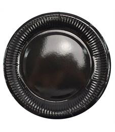"""Тарелки бумажные ламинированные ПатиБум """"Black"""", 18см, 6шт., еврподвес"""