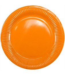 """Тарелки бумажные ламинированные ПатиБум """"Orange"""", 18см, 6шт., еврподвес"""