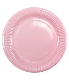 """Тарелки бумажные ламинированные ПатиБум """"Pink"""", 18см, 6шт., еврподвес"""