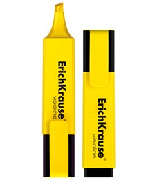 Текстмаркер ErichKrause Visioline V-20, цвет чернил желтый