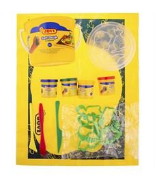 Фото 2. Тесто для лепки JOVI, 04 цвета*50г, аксессуары, пластиковое ведро
