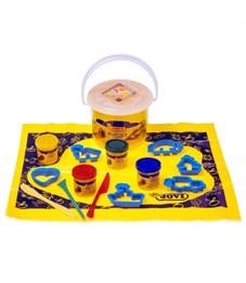 Фото 3. Тесто для лепки JOVI, 04 цвета*50г, аксессуары, пластиковое ведро