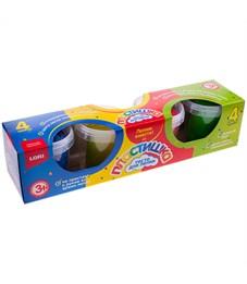 """Тесто для лепки Lori """"Пластишка"""", 04 цвета*115г, картон"""