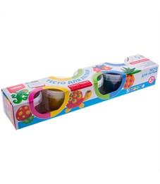 """Тесто для лепки Lori """"Пластишка"""", 05 цветов*80г, классические цвета, картон"""