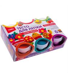 """Фото 1. Тесто для лепки Lori """"Пластишка"""", 06 цветов*80г, классические цвета, картон"""
