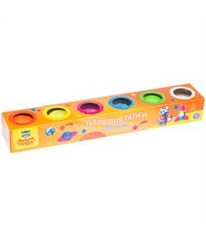 """Тесто для лепки Мульти-Пульти """"Енот на Луне"""", 06 цветов*90г, яркие цвета, картон"""