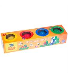 """Тесто для лепки Мульти-Пульти """"Енот на пасеке"""", 04 цвета*90г, картон"""