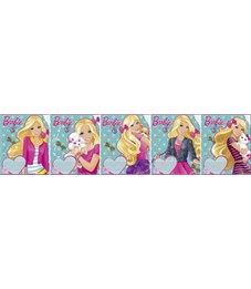 Тетрадь 12л Barbie А5 кос лин карт УФ лак B727/5-g-EAC