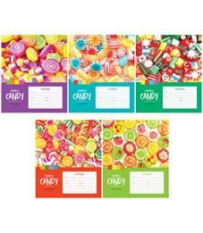 """Тетрадь 12л., клетка ArtSpace """"Леденцы. Colorful candy"""", ВД-лак"""