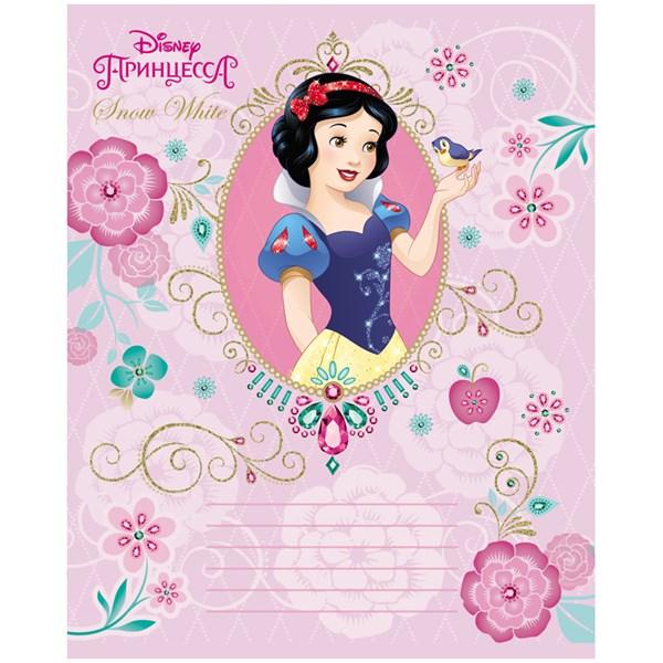"""Тетрадь 12л., клетка Hatber """"Disney. Принцессы"""", тиснение фольгой"""