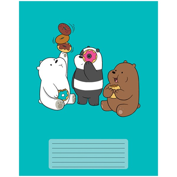 "Тетрадь 12л., клетка Hatber ""We Bare Bears. Вся правда о медведях"""