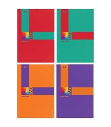 "Тетрадь 160л., А4, клетка на гребне BG ""Color lines"", глянцевая ламинация, твердая обложка"
